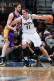 Los Angeles Lakers v Minnesota Timberwolves: Darko Milicic and Pau Gasol Photographic Print by David Sherman