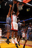 Charlotte Bobcats v Miami Heat: LeBron James Photographic Print by Andrew Bernstein