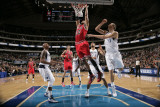 Chicago Bulls v Dallas Mavericks: Taj Gibson, Dirk Nowitzki and Caron Butler Photographic Print by Danny Bollinger