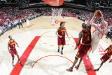 Cleveland Cavaliers v Houston Rockets: Antawn Jamison and Chase Budinger Photographic Print by Bill Baptist
