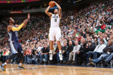 Memphis Grizzlies v Utah Jazz: Deron Williams and Mike Conley Photographic Print by Melissa Majchrzak