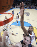 Minnesota Timberwolves v Oklahoma City Thunder: Kevin Love and Kevin Durant Photographic Print by Layne Murdoch