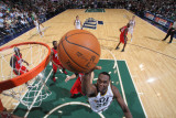 New Jersey Nets v Utah Jazz: Al Jefferson Photographic Print by Melissa Majchrzak