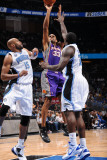 Phoenix Suns v Orlando Magic: Grant Hill, Vince Carter and Brandon Bass Photographic Print by Andrew Bernstein