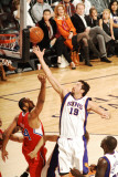 Los Angeles Clippers v Phoenix Suns: Hedo Turkoglu and Brian Cook Photographic Print by Barry Gossage