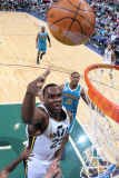 New Orleans Hornets v Utah Jazz: Al Jefferson Photographic Print by Melissa Majchrzak