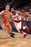 Phoenix Suns v Portland Trail Blazers: Steve Nash and Patrick Mills Photographic Print by Sam Forencich