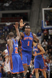 New York Knicks v Detroit Pistons: Amar'e Stoudemire and Raymond Felton Photographic Print by Allen Einstein