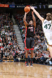 Miami Heat v Utah Jazz: Mario Chalmers and Andrei Kirilenko Photographic Print by Melissa Majchrzak