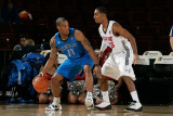 Texas Legends v Idaho Stampede: Antonio Daniels and Lance Hurdle Photographic Print by Otto Kitsinger