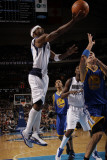 Golden State Warriors v Dallas Mavericks: Jason Terry and Andris Biedrins Photographic Print by Danny Bollinger