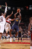 Utah Jazz v Portland Trail Blazers: Paul Millsap Photographic Print by Sam Forencich