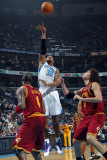 Cleveland Cavaliers v New Orleans Hornets: David West and Anderson Varejao Photographic Print by Layne Murdoch