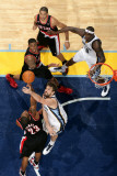 Portland Trail Blazers v Memphis Grizzlies: Marc Gasol and Marcus Camby Photographic Print by Joe Murphy