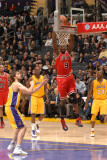 Chicago Bulls v Los Angeles Lakers: Luol Deng Photographic Print by Andrew Bernstein