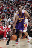 Los Angeles Lakers v Houston Rockets: Lamar Odom and Luis Scola Photographic Print by Bill Baptist