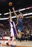 Minnesota Timberwolves v Phoenix Suns: Nikola Pekovic and Robin Lopez Photographic Print by Christian Petersen