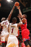 Philadelphia 76ers v Miami Heat: Marreese Speights and Joel Anthony Photographic Print by Victor Baldizon