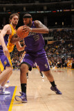 Sacramento Kings v Los Angeles Lakers: DeMarcus Cousins and Pau Gasol Photographic Print by Noah Graham
