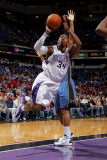 Washington Wizards v Sacramento Kings: Jason Thompson Photographic Print by Rocky Widner