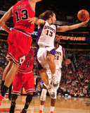 Chicago Bulls v Phoenix Suns: Steve Nash and Joakim Noah Photographic Print by Barry Gossage