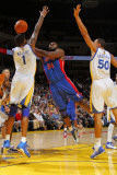 Detroit Pistons v Golden State Warriors: Jason Maxiell Photographic Print by Rocky Widner