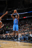 Oklahoma City Thunder v New Jersey Nets: Jeff Green Photographic Print by Jesse D. Garrabrant