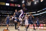 Minnesota Timberwolves v Phoenix Suns: Hakim Warrick, Kevin Love and Wesley Johnson Photographic Print by Christian Petersen
