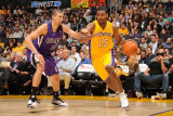 Sacramento Kings v Los Angeles Lakers: Ron Artest and Francisco Garcia Photographic Print by Noah Graham
