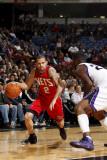 New Jersey Nets v Sacramento Kings: Jordan Farmar and Donte Greene Photographic Print by Don Smith