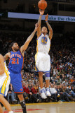 New York Knicks v Golden State Warriors: Monta Ellis and Wilson Chandler Photographic Print by Rocky Widner
