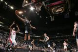 Detroit Pistons v Minnesota Timberwolves: Michael Beasley and Charlie Villanueva Photographic Print by David Sherman