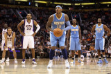 Denver Nuggets v Phoenix Suns: Carmelo Anthony Photographic Print by Christian Petersen