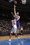 Los Angeles Lakers v Detroit Pistons: Pau Gasol and Ben Wallace Photographic Print by Allen Einstein