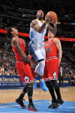 Chicago Bulls v Denver Nuggets: James Johnson, Gary Forbes and Kyle Korver Photographic Print by Garrett Ellwood