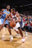 Denver Nuggets v Portland Trail Blazers: Arron Afflalo and Andre Miller Photographic Print by Sam Forencich