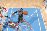 Milwaukee Bucks v Denver Nuggets: Luc Mbah A Moute Photographic Print by Garrett Ellwood