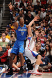 Orlando Magic v Los Angeles Clippers: Dwight Howard and Blake Griffin Photographic Print by Noah Graham