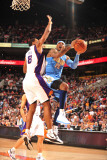 Denver Nuggets v Phoenix Suns: Carmelo Anthony and Channing Frye Photographic Print by Barry Gossage