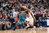 New Orleans Hornets v Utah Jazz: Chris Paul and Deron Williams Photographic Print by Melissa Majchrzak