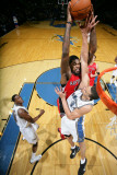 Toronto Raptors v Washington Wizards: Amir Johnson and JaVale McGee Photographic Print by Ned Dishman