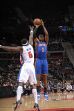 New York Knicks v Detroit Pistons: Amar'e Stoudemire and Ben Wallace Photographic Print by Allen Einstein