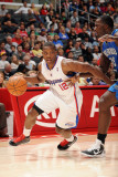 Orlando Magic v Los Angeles Clippers: Eric Bledsoe and Brandon Bass Photographic Print by Noah Graham