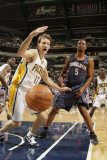 Charlotte Bobcats v Indiana Pacers: Mike Dunleavy and Dominic McGuire Photographic Print by Ron Hoskins