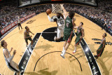 Milwaukee Bucks v San Antonio Spurs: DeJuan Blair and Andrew Bogut Photographic Print by D. Clarke Evans