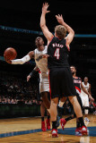 Portland Trail Blazers v Washington Wizards: John Wall and Sean Marks Photographic Print by Ned Dishman