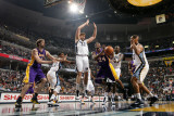 Los Angeles Lakers v Memphis Grizzlies: Kobe Bryant and Marc Gasol Photographic Print by Joe Murphy