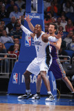 Phoenix Suns v Orlando Magic: Dwight Howard and Hedo Turkoglu Photographic Print by Andrew Bernstein