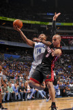 Miami Heat v Orlando Magic: Jameer Nelson and Carlos Arroyo Photographic Print by Fernando Medina