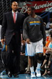 San Antonio Spurs v New Orleans Hornets: Chris Paul and Monty Williams Photographic Print by Layne Murdoch